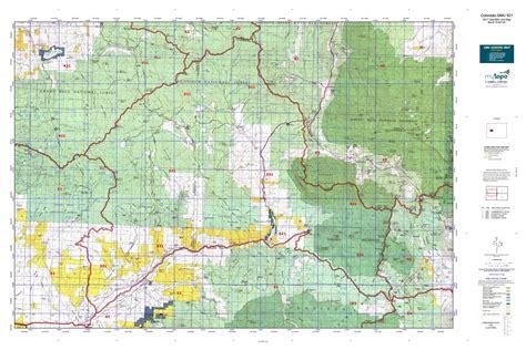 colorado elk unit map colorado gmu 521 map mytopo