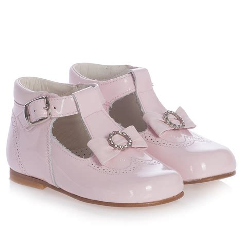 pink leather shoes children s classics pink patent leather bow shoes