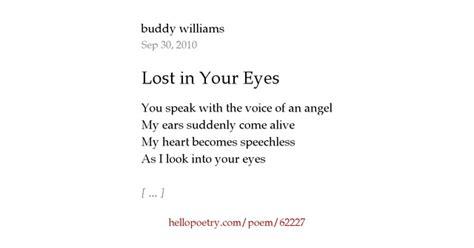 lost   eyes  buddy williams  poetry