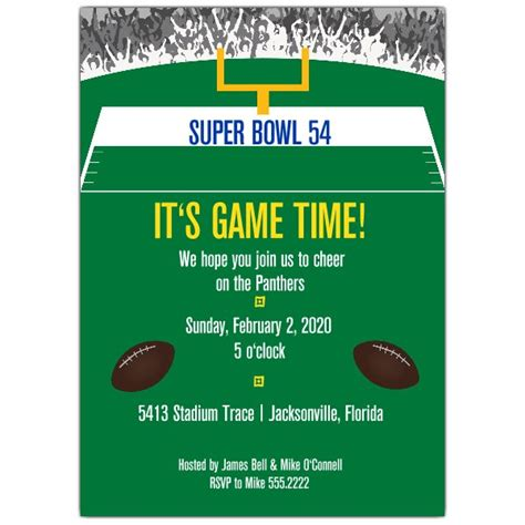 cheering football invitations paperstyle