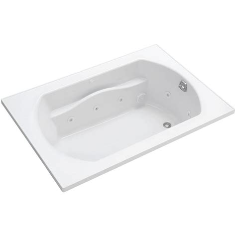 5 foot whirlpool bathtub kohler archer 5 ft whirlpool tub in white k 1122 hr 0