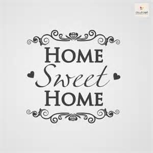 home is where the is home sweet home muursjablonen en muurstickers op jouw muur