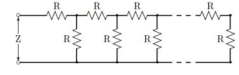 resistor ladder network homework and exercises what would be the effective resistance of the ladder of resistors