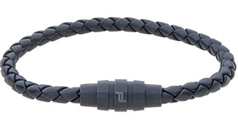 porsche design bracelet porsche design grooves bracelet in black for men lyst