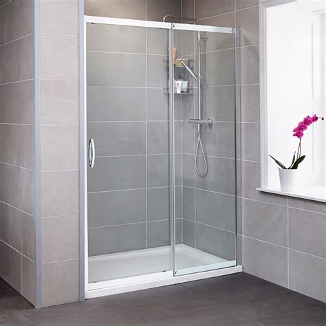 Slide Shower Door Aquafloe Iris 8mm 1100 Sliding Shower Door
