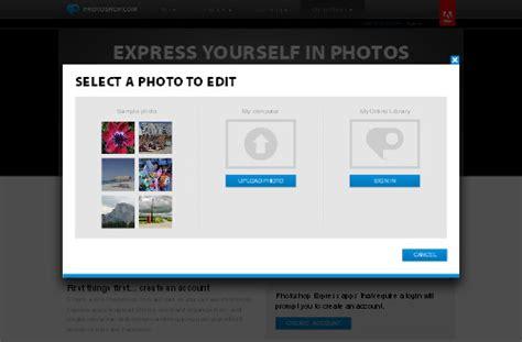 tutorial photoshop express fotos gratis bearbeiten im netz photoshop online