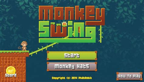 swinging monkey game monkey swing swinging monkeys wearing funny hats mobile