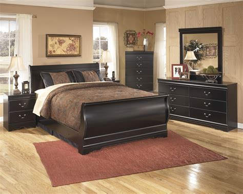 huey vineyard queen sleigh bed huey vineyard black queen sleigh bed by ashley ebay