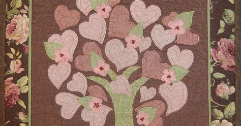 Quilted Tree Wall Hanging by Ulla S Quilt World Quilted Tree Wall Hanging With Hearts