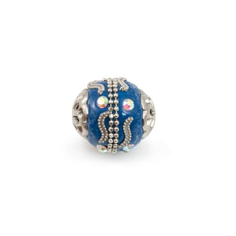 where to buy beading supplies mongolian resin bead 18mm blue silver resin