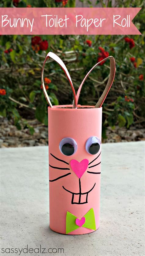 Things To Make Out Of Toilet Paper Rolls - bunny rabbit toilet paper roll craft for crafty morning