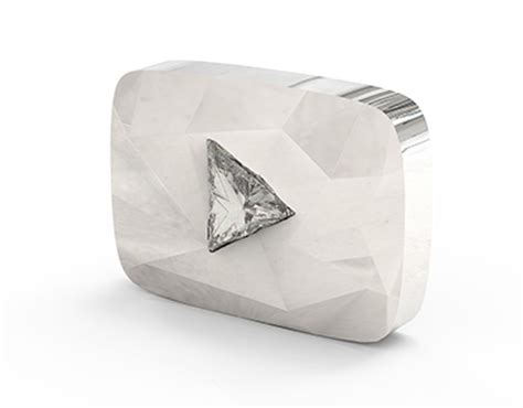 youtube gives new diamond play button to channels with 10 diamond play button youtube on behance
