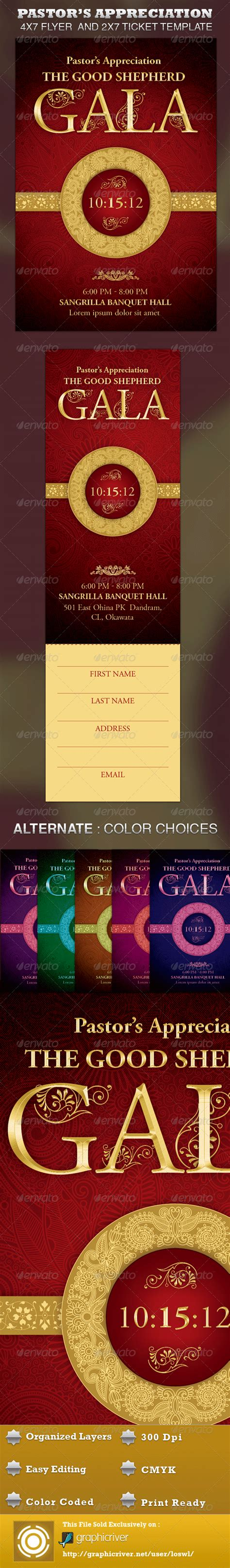 Pastor S Appreciation Gala Church Flyer Ticket On Behance Graphicriver Iii Flyer Template