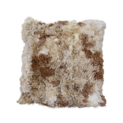 Alpaca Fur Pillows by Brown Spotted Alpaca Fur Pillow 24 Quot Side Fur