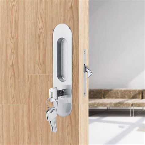 home bathroom sliding door lock handle keys for barn