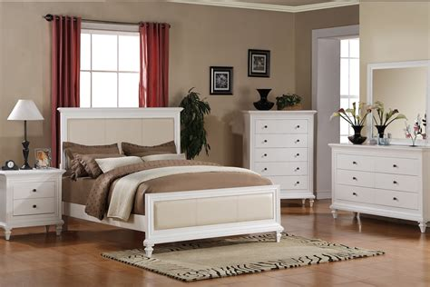 queen size victoria beige leather solid wood white master
