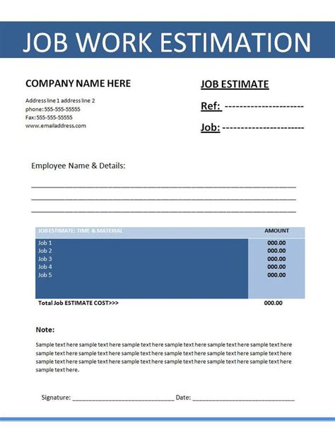 pdf ebook templates construction estimate template free premium