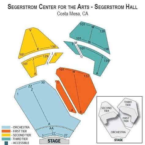 segerstrom seating chart david and st vincent october 12 tickets costa mesa
