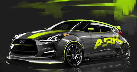 nissan veloster black custom turbocharged hyundai veloster to bow at sema autoblog