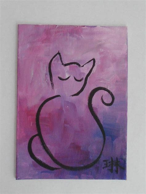 easy cat painting ideas best 25 cat silhouette tattoos ideas on