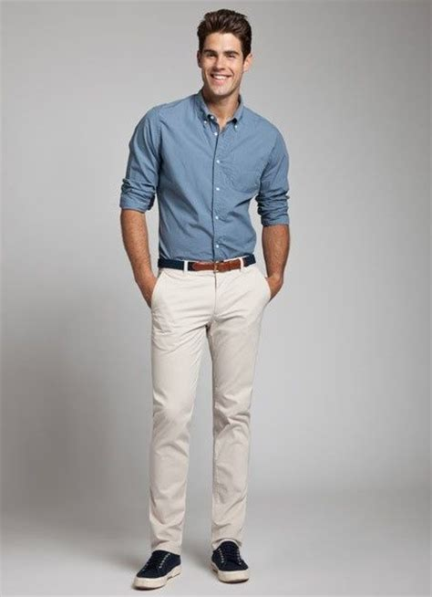 20015 White Navy Style light blue shirt navy belt navy shoes white crisp clean easy style fashion
