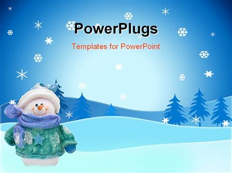 a snowman on a snowflake background snowman powerpoint