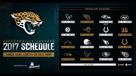 jacksonville jaguars scedule jacksonville jaguars release 2017 regular schedule wjax tv