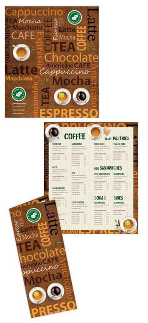 coffee shop menu template shops menu template and coffee shop on