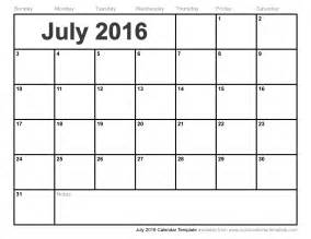july 2014 calendar template july 2016 calendar template