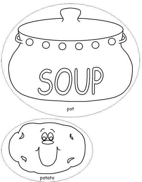 soup template soup pot coloring page coloring pages