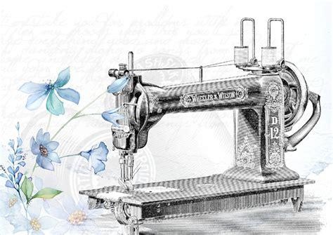 layout mesin garment free illustration vintage sewing machine sew free