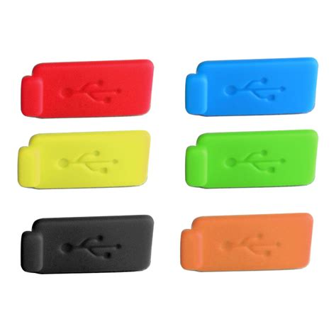 Silicone Notebook Dust Yellow 69eaz5 6 color rubber silicone anti dust usb cover stopper for pc laptop powerbank
