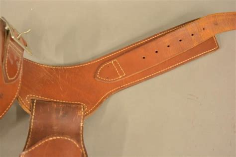 leather gun holster and ammo belt