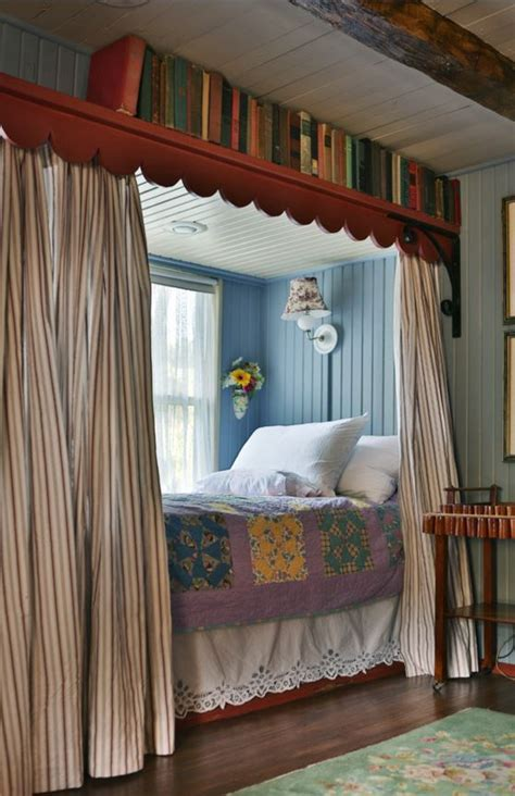 Window Beds by Colorful Cozy Gosherd Valley Cottage In Missouri