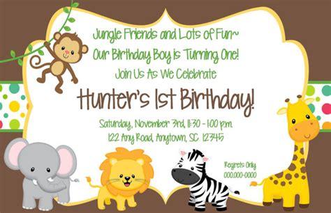 free printable birthday invitations jungle theme printable jungle themed birthday invitation 5x7 by