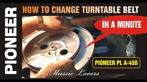 how to replace belts youtube how to replace change turntable belt in a minute 4 easy steps youtube