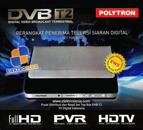 Set Box Tv Digital Indonesia set top box polytron dvbt2