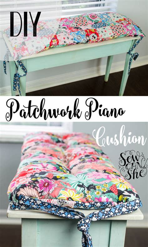 bench cushion tutorial diy patchwork piano bench or anywhere cushion free