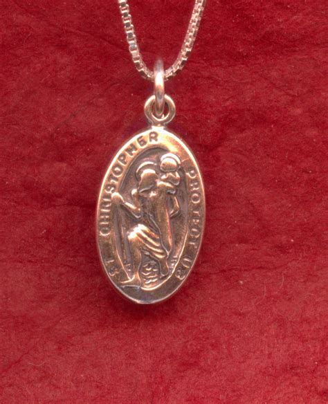 sterling silver st christopher necklace 925 charm pendant and