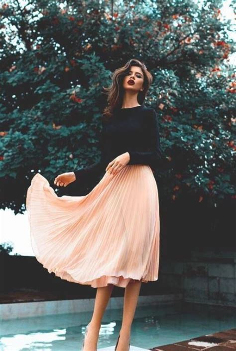 picture   black long sleeve top   peachy pink
