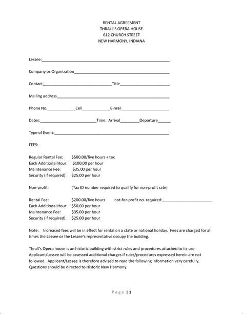basic rental agreement letter template basic rental agreement template basic rental agreement