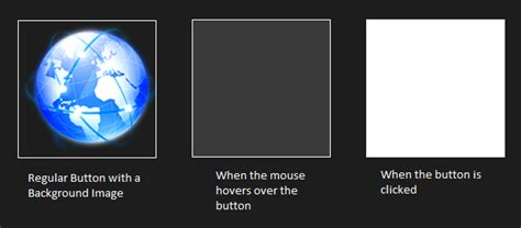 click or hover image to changing a button s visual style on mouse hover mouse click