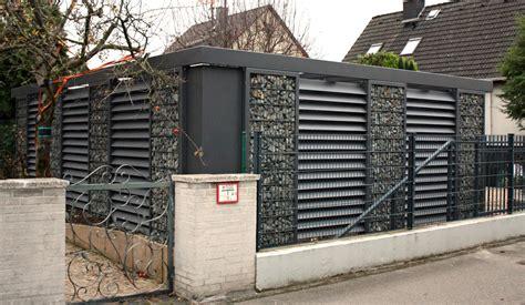 gabionen carport gabionen carport steelmanufaktur