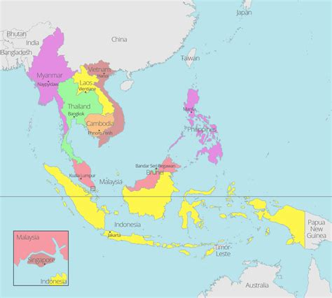 southeast asia map with capitals free maps of asean and southeast asia asean up