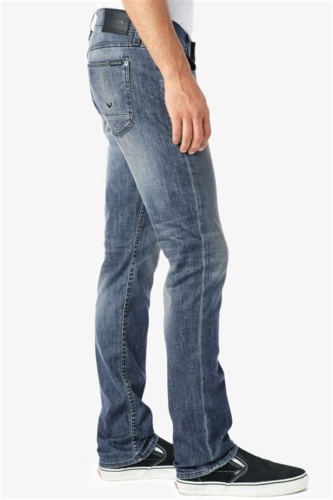 1921 jeans slim straight river lyst hudson jeans blake slim straight in blue for men