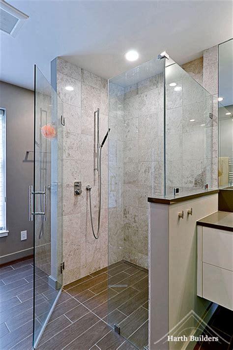 Bath Shower Faucet zero threshold shower contemporary bathroom