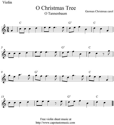 o christmas tree o tannenbaum free christmas violin
