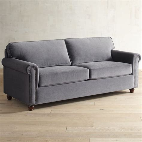 sofa armrest alton zinc gray roll arm sleeper sofa goodglance