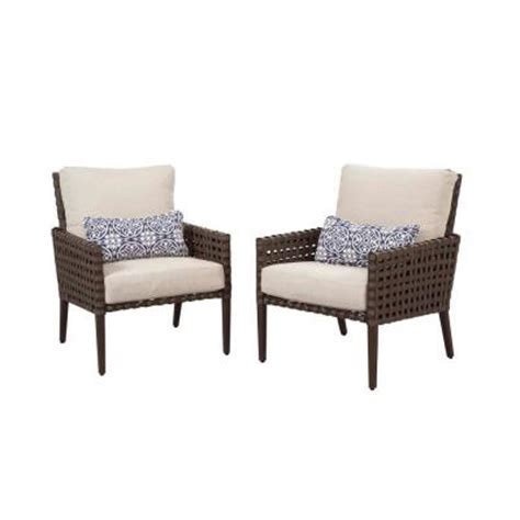 Home Depot Patio Chairs hton bay raynham patio lounge chairs set of 2 dy12091 l the home depot