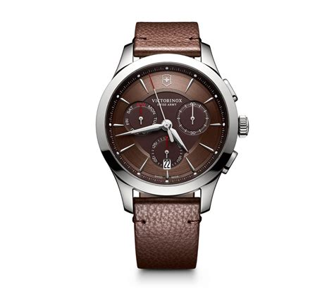 Swiss Army 2195 victorinox alliance chronograph 44 mm in brown 44 mm